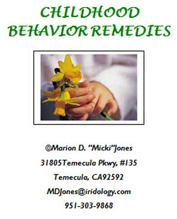 Childhood Behavior Remedies